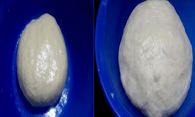 Dough after first rise