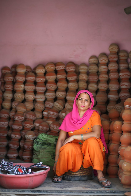 Indian potter woman.