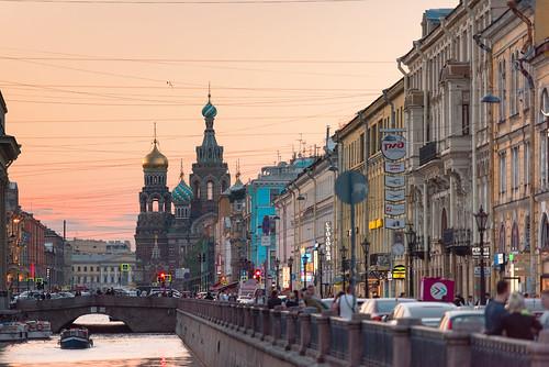 sanktpeterburg saintpetersburg russia ru river whitenights dusk light travel landscape architecture