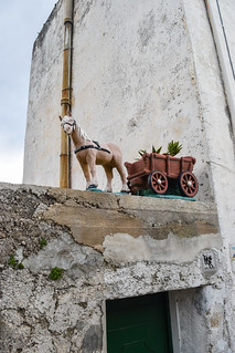 Donkey and cart decor on pathway from Ravello to Minori, Amalfi Coast, Italy | by Gwendolyn Stansbury