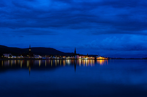 night bluehour clouds sky water firthofclyde largs largsharbour largsbay northayrshire scotland reflection reflections blue pentaxkr pentax pentaxdal