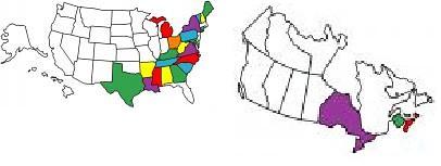 VisitedStates&ProvincesMap-sm | by paulgimme
