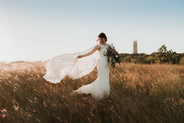 Wedding bridal photography in Bok Tower Gardens
