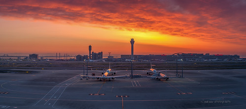 sky japan sunrise fire 50mm morninglight airport photomerge boeing narita on 500px nikond700 zakiesphotography zakiesimage