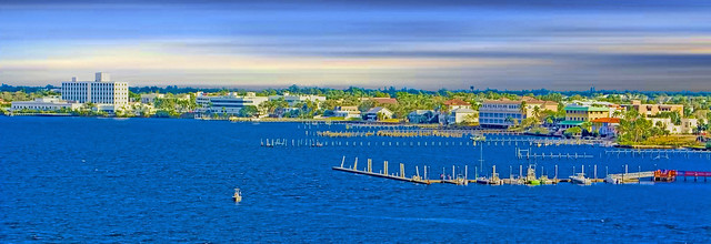 Panoramic view of the skyline of Stuart, Florida, USA