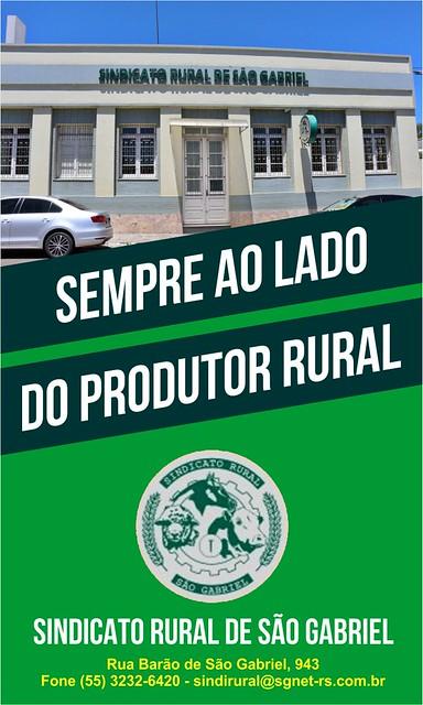 Anúncio Sindicato Rural de São Gabriel