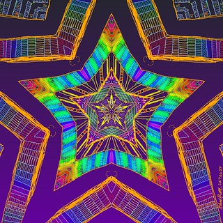 Rainbow Star Mandala | by Leland Green...