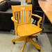 Wooden frame height adjustable swivel chair E60