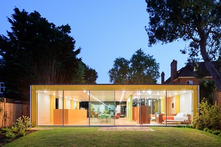 prefab 1960s harvard design London Wimbledon House pavers back yard | by mod*mom