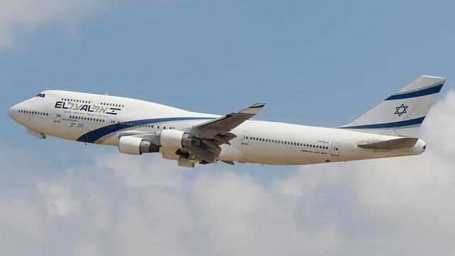 TLV - El Al Boeing 747-400 4X-ELA