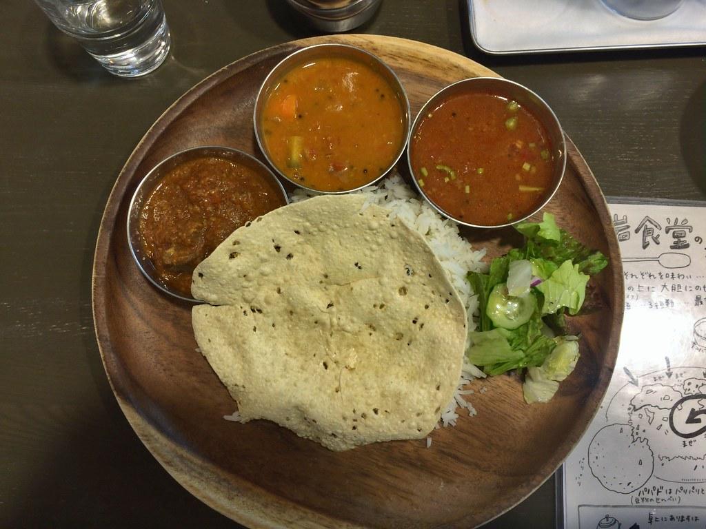 Pork Vindaloo curry plate at Oiwa Shokudo, Nishi Ogikubo