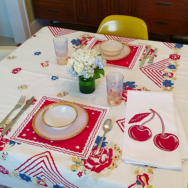 table setting July 2017