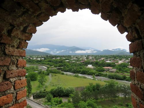 2017 europetrip34 gremi georgia fortress panorama landscape kakheti region