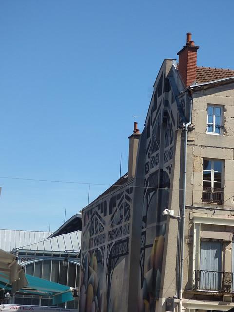 Dijon Market Hall - Rue Odebert, Dijon - mural