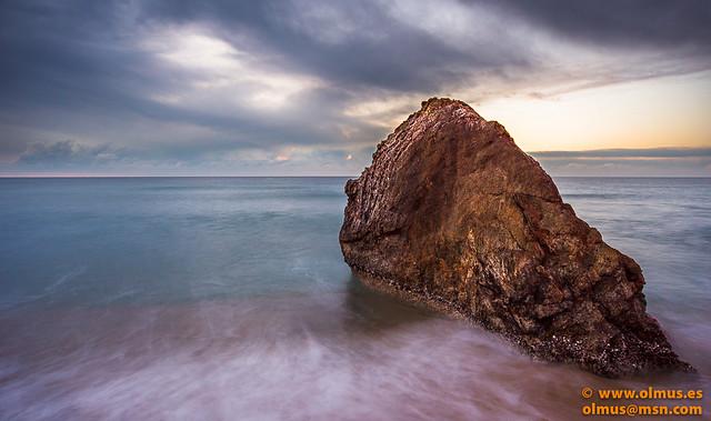Amanecer en la playa de Montgat
