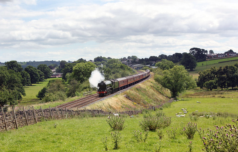 A3 Pacific, No.60103 'Flying Scotsman' heads for Carlisle with the second Waverley working of 2017 past Fiddlers Lane near Lazonby.