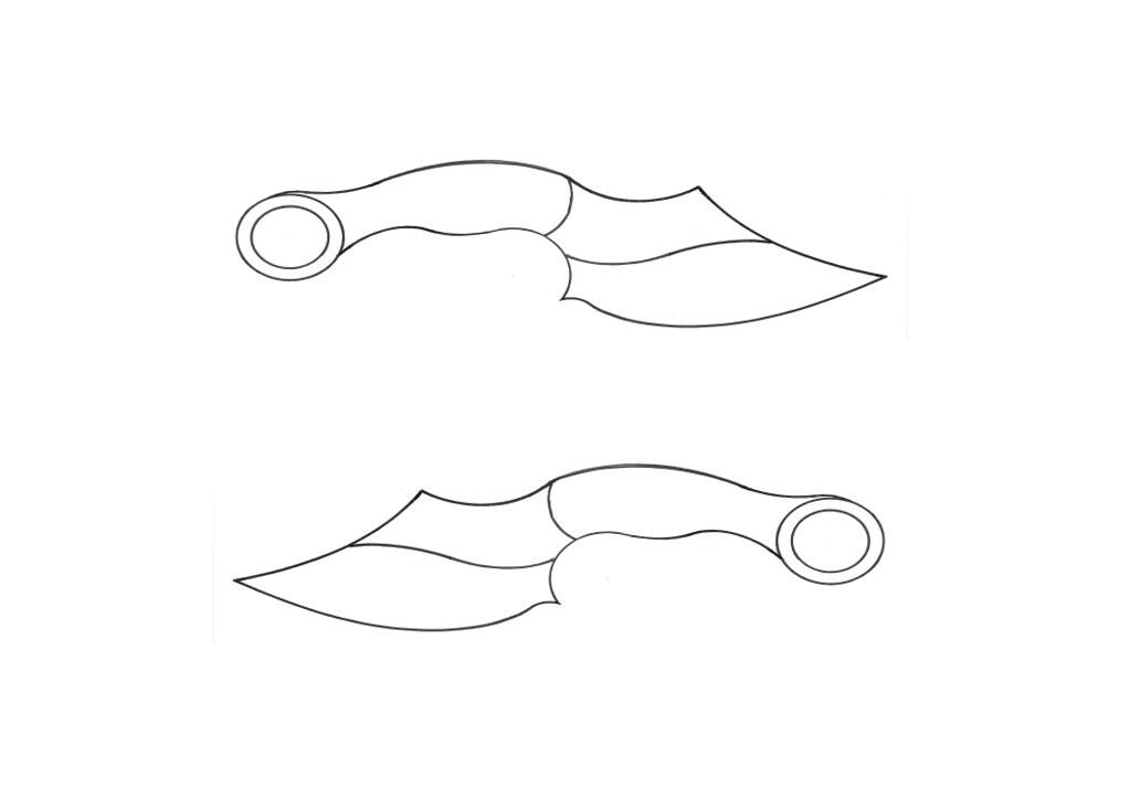 Керамбит нож рисунок