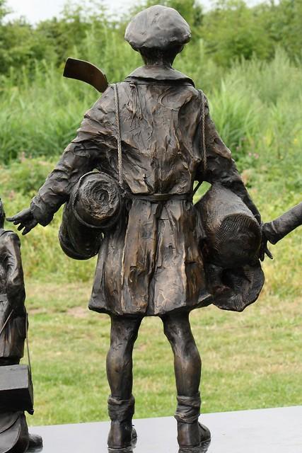 National Arboretum, England - Evacuees - detail of memorial