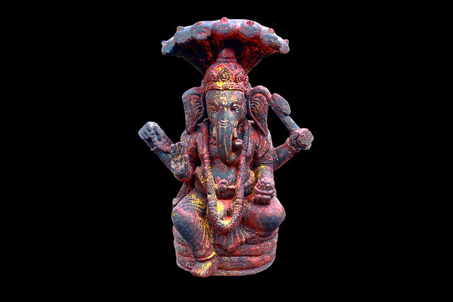 Nepal - Bungamati - Karya Binayak Temple - Ganesha - 20d