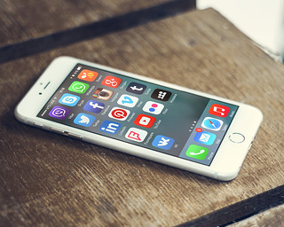 Social Media App Icons On The Screen of A Smartphone | by mikemacmarketing