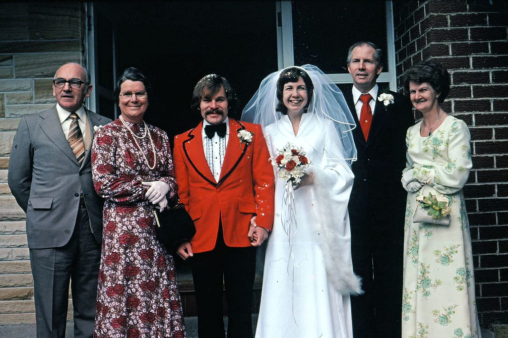 Doug and Jenny McNaugt wedding with Stewart and Mrs McNaufght and Frank and Daphne - Waitara NSW - 14th August 1976 - 0002a