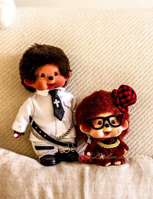 2 cutie monchichi