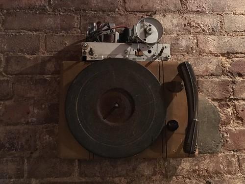 Antique Radio & Phonograph Gear at Hill & Dale Bar, Manhattan