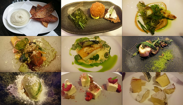 Isle of Eriska tasting menu