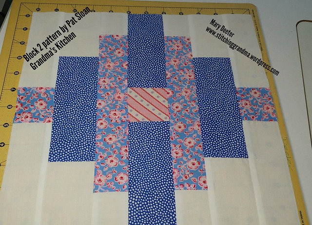 Block 2 Grandma's Kitchen,  pattern by Pat Sloan