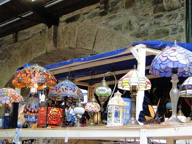 Tiffany lamps in Tavistock market