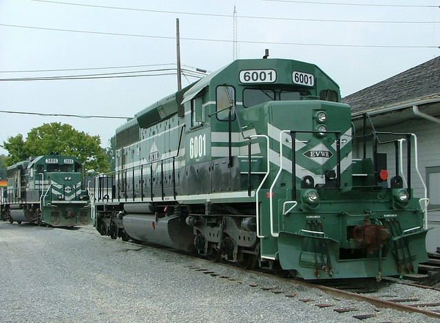 Evansville & Western EVWR 6001 (EMD SD40-2) Mt.Vernon, Indiana
