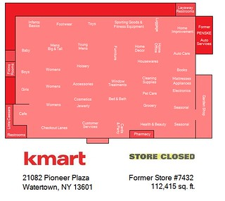 Watertown Kmart Map | This store isn't technically closed ...