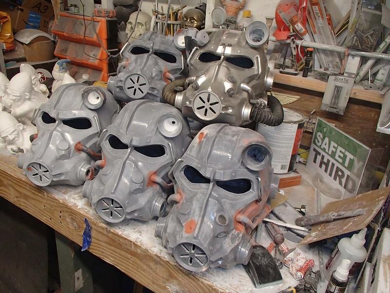 Stack of Helmets in Progress