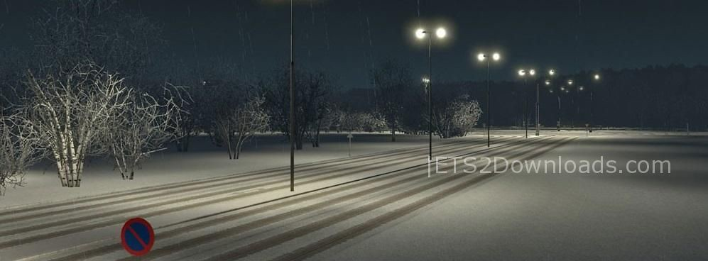 Winter & Snow Mod 2017 v2 0 | image from ets2downloads com/m