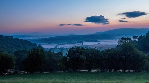 castle d750 sunrise mist panorama clouds timelapse wales britain montgomery tree sun video hills powys sky green sunlight colour uk landscape