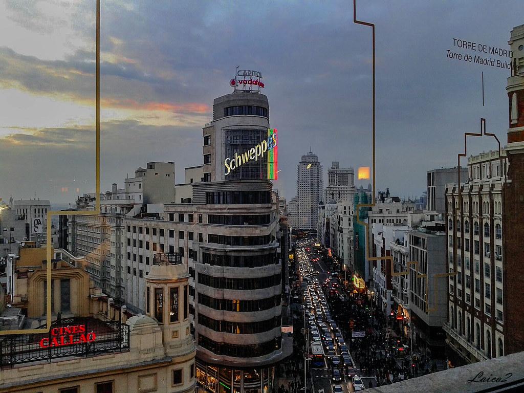 Gran Via Desde Terraza Corte Ingles Madrid Laica2 Flickr
