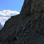 Goat traverse on north face of Mt. Reynolds