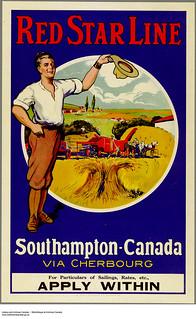 Red Star Line. Southampton-Canada via Cherbourg ... / Compagnie Red Star Line. De Southampton au Canada, en passant par Cherbourg...