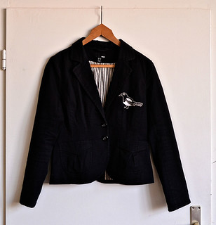 magpie embroidered jacket
