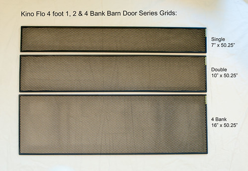 Kino Flo Barn Door Grids | by HoneyGrids
