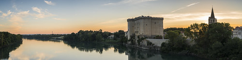 france bouchesdurhone rhone river dawn sunrise panorama tripod induro riverscape