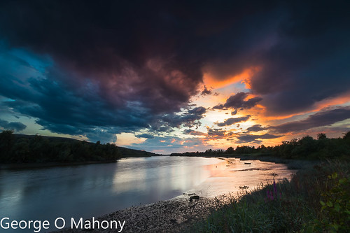 sunset river suir sky water leefilters explored