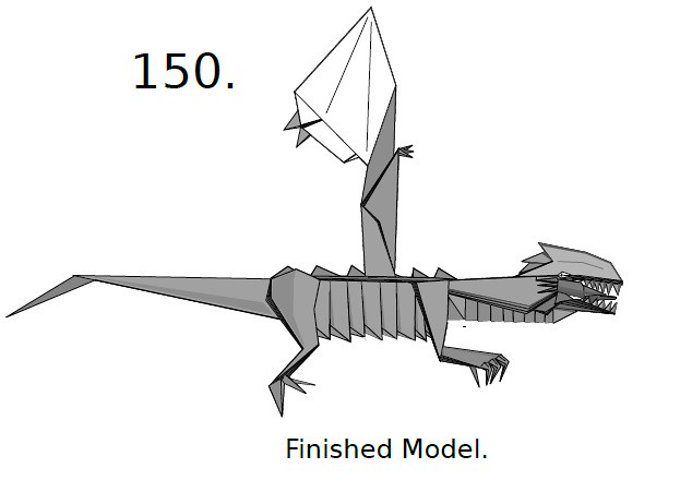 How make origami 3-Heads Dragon | How To Make Origami Dragon | 440x634