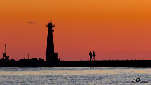 sunset lake michigan love travel lighthouse canon rebel t3i usa silhouette