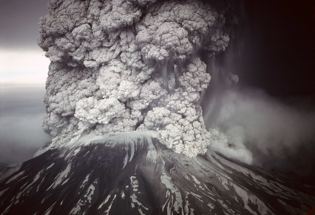 Eruption of Mt St Helens May 18, 1980, Gifford Pinchot National Forest