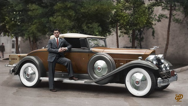 Clark Gable Poses By His 1932 Packard