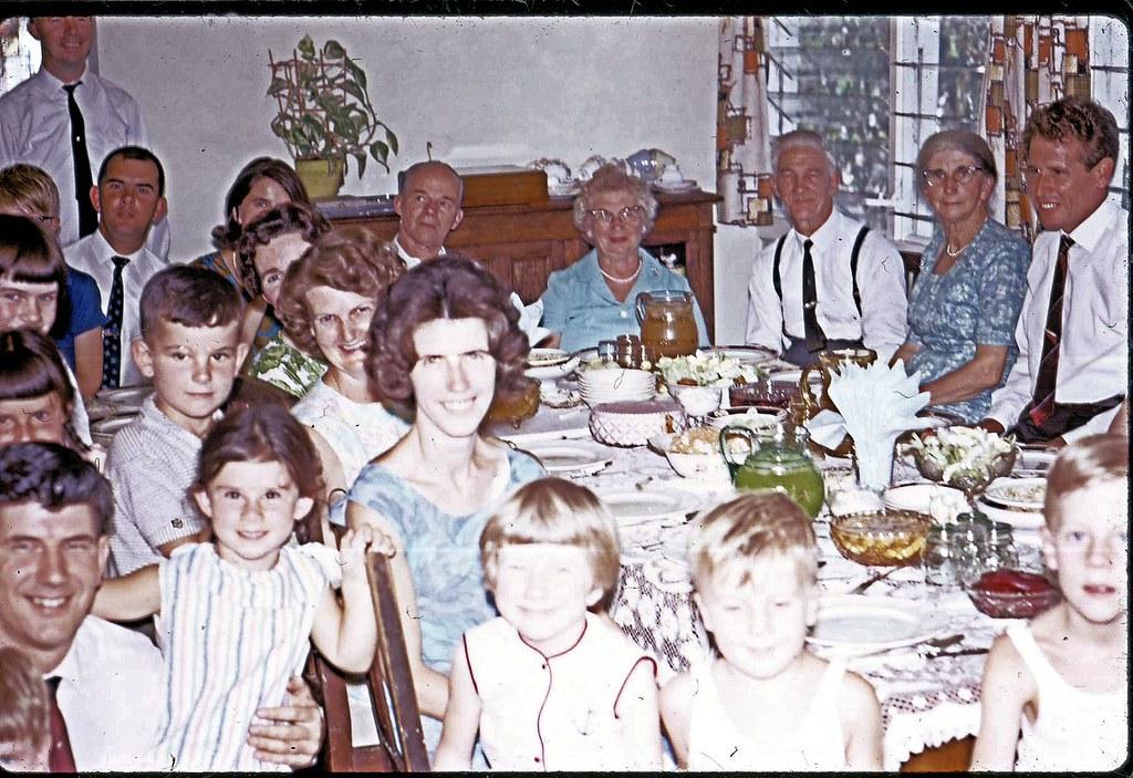 Akehurst family Chrisdtmas dinner - Dartford Rd Thornleigh NSW - 25th December 1967  - 0002a