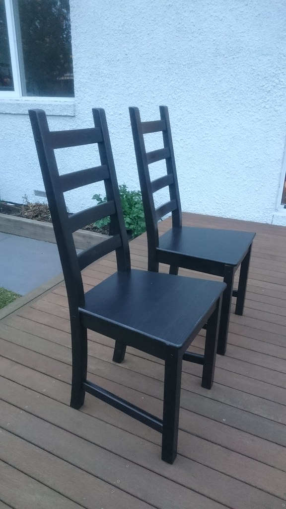 Ikea Kaustby Dining Chairs On The Deck Right Alpha Flickr