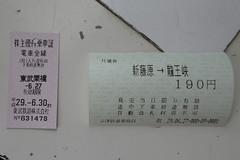 東武鬼怒川線の新藤原駅から1駅 200円で行ける駅前渓谷(写真は2019年9月までの運賃)