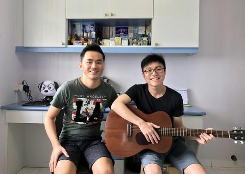 Beginner guitar lessons Singapore Wei Liang